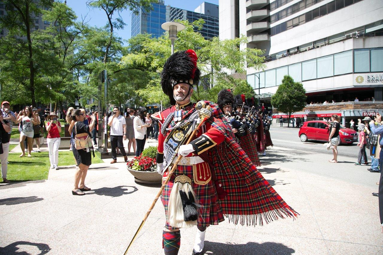 Canada Day bagpipes