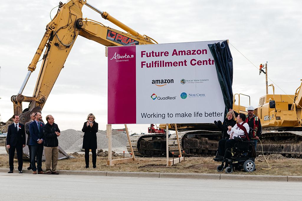 Future Amazon fullfillment centre sign