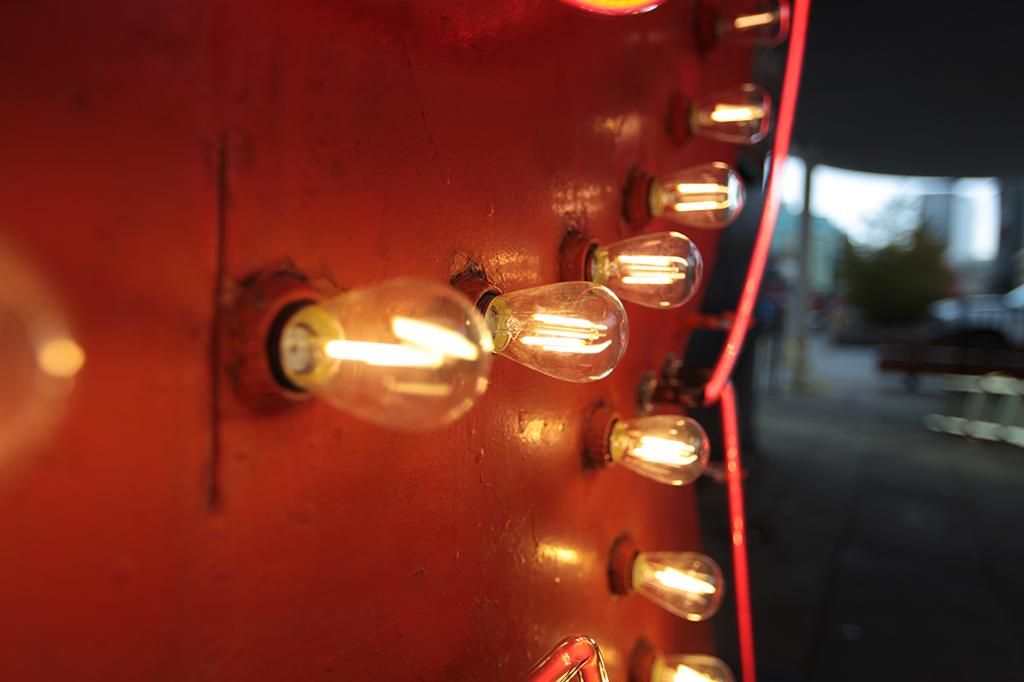 Lumiere Vancouver Ridge Theatre Neon Sign Closeup