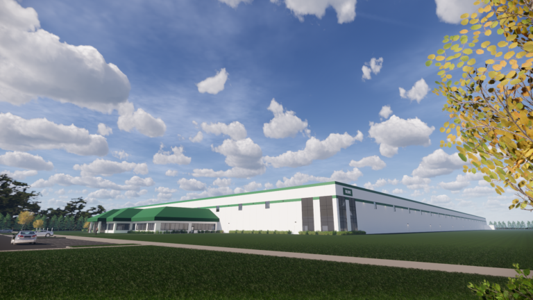 Rendering of Uline distribution facility at Anthony Henday Business Park