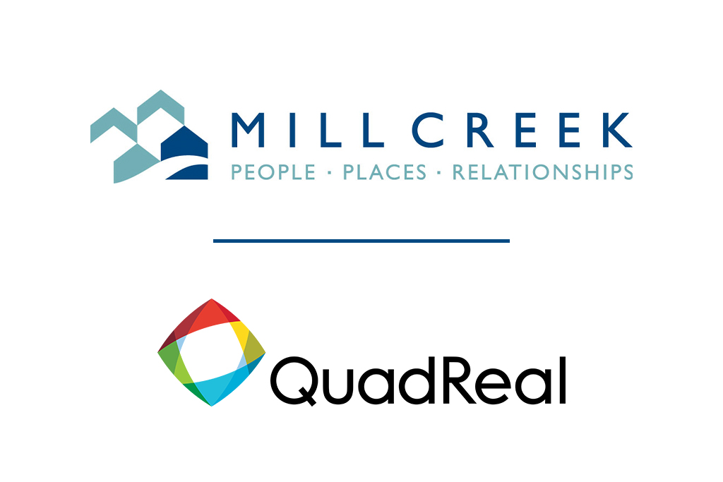 Mill Creek Residential and QuadReal Logos