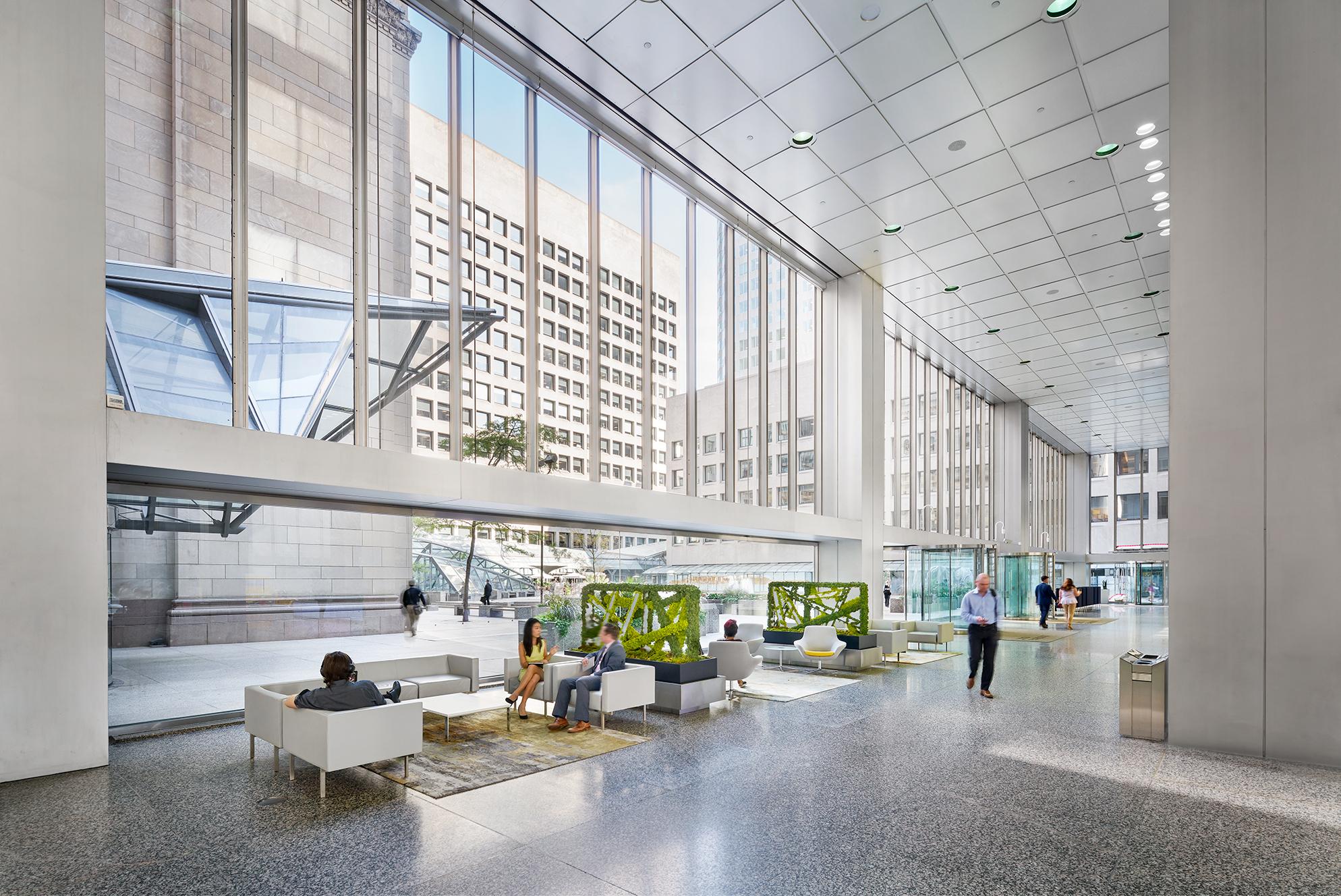 Interior photo of Commerce Court, Toronto
