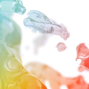 colored liquid drops
