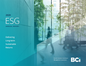 Thumbnail of BCI's 2020 ESG Annual Report cover