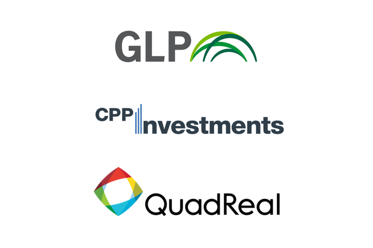 Logos of GLP, CPP Investments and QuadReal