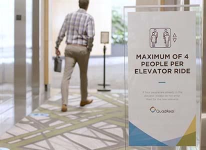 Photo of lobby signage